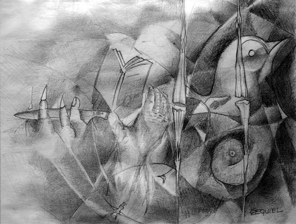 Violence and peace. 2005. Pencil on paper, 8 ½ x 11 ½